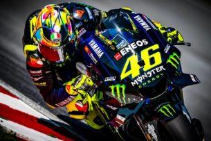 Шлем AGV Валентино Росси для зимних тестов MotoGP 2019