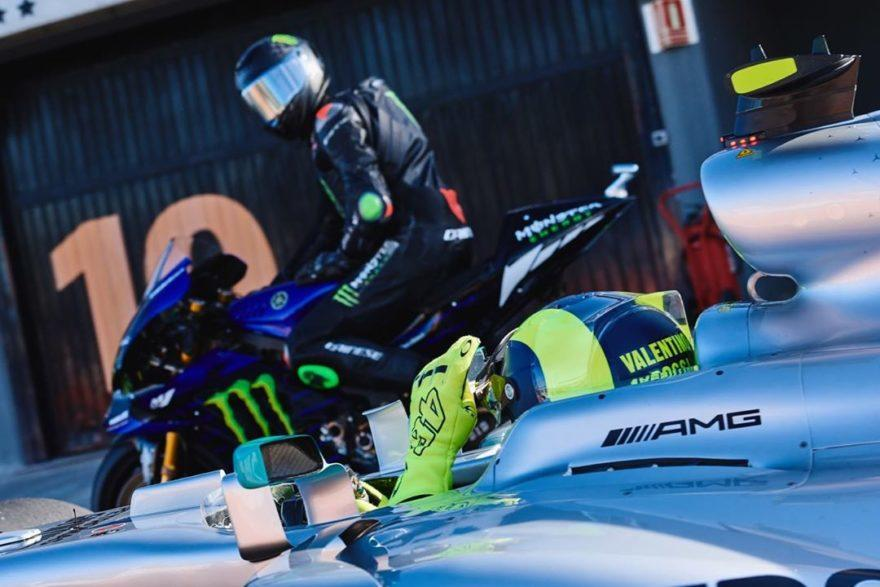 Видео: Росси и Морбиделли обучают Хэмилтона искусству MotoGP