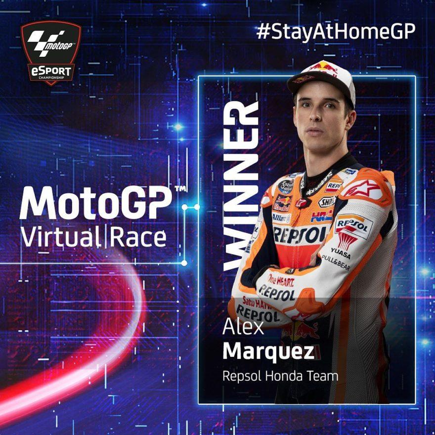 Алекс Маркес– победитель MotoGP Virtual Race