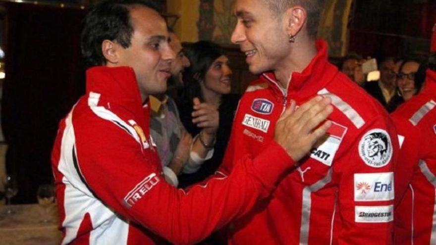 Валентино Росси и Фелипе Масса