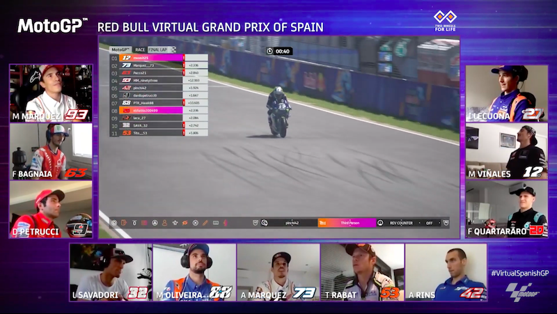 Маверик Виньялес, MotoGP 20, Virtual Race