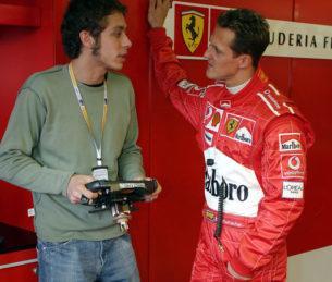 Росси и Шумахер на Гран-При Австралии 2004 года