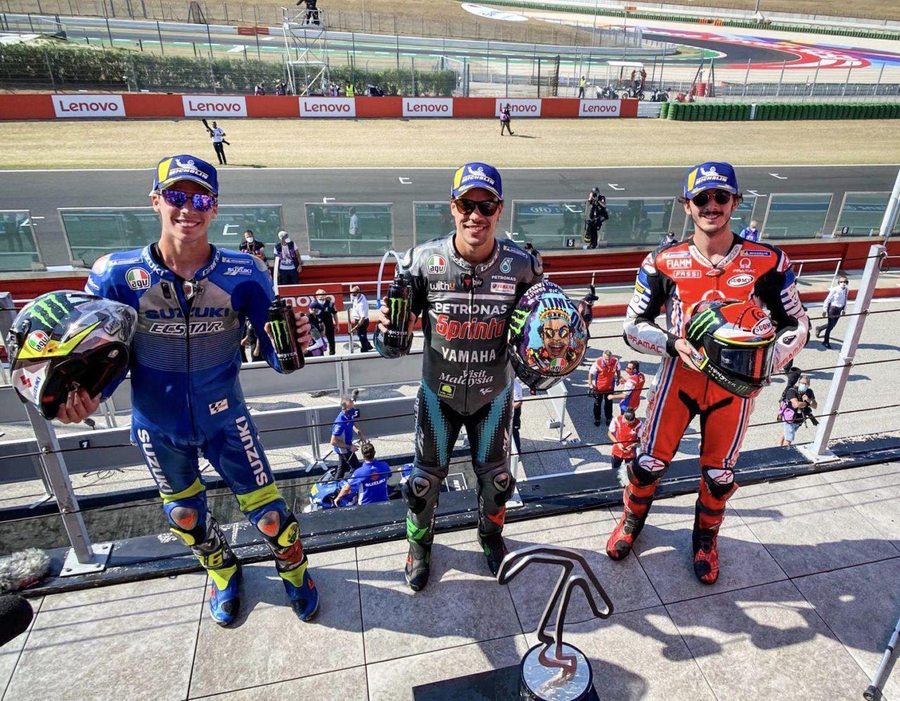 ГП Сан-Марино 2020: подиум MotoGP