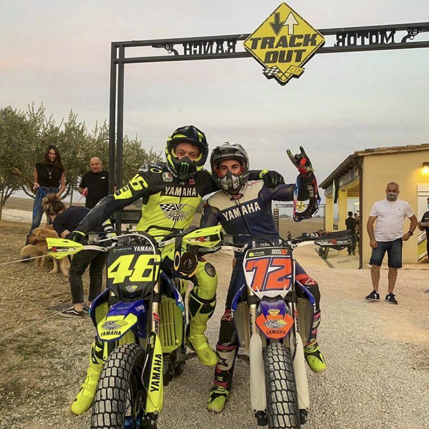Валентино Росси и Маверик Виньялес на Ранчо