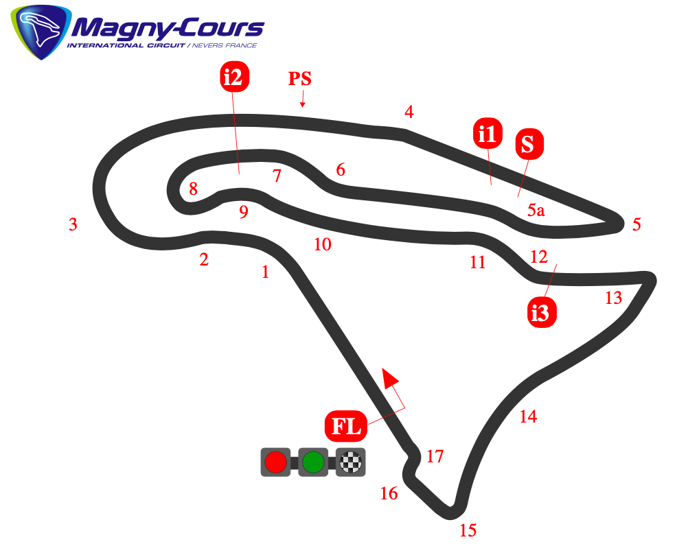 Схема трассы Маньи-Кур
