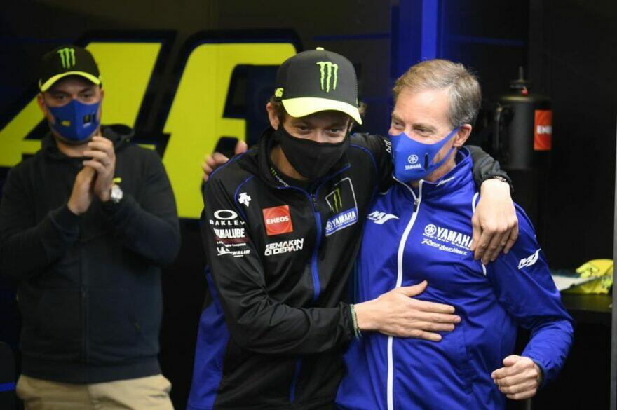 #фотоGP: заводская Yamaha говорит «до свидания» Росси и бригаде VR46