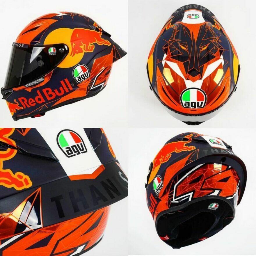 #фотоGP: шлем-прощание П. Эспаргаро для последней гонки с КТМ
