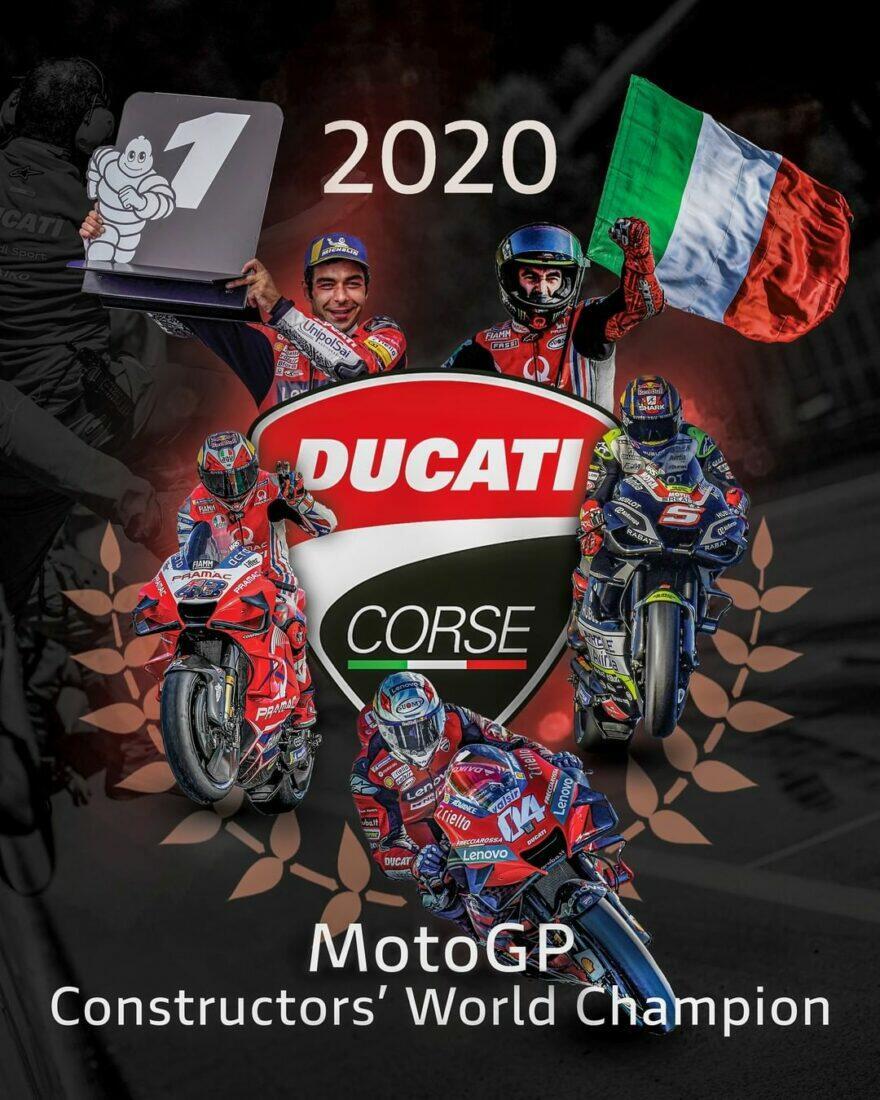 Второй раз в истории MotoGP кубок конструкторов у Ducati