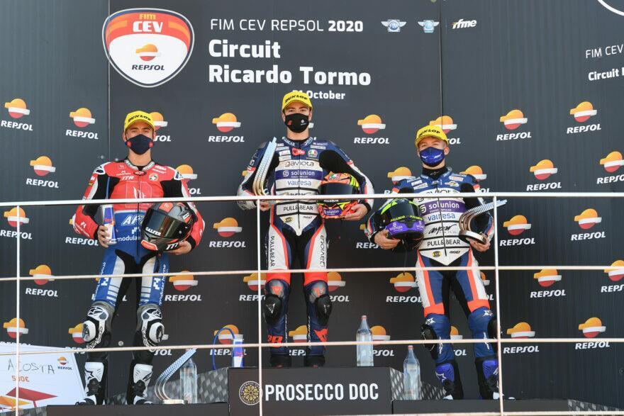 Гевара побил Артигаса в драке за титул Junior Moto3