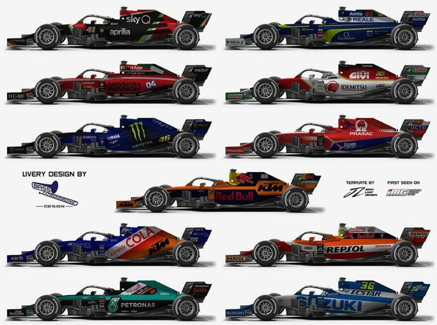 #фотоGP: что если бы команды MotoGP участвовали в Формуле-1?