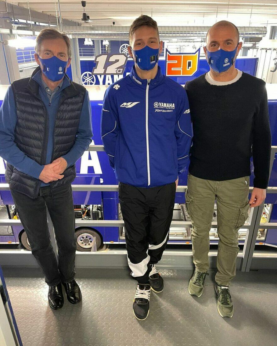 Квартараро посетил базу Yamaha под Монцей