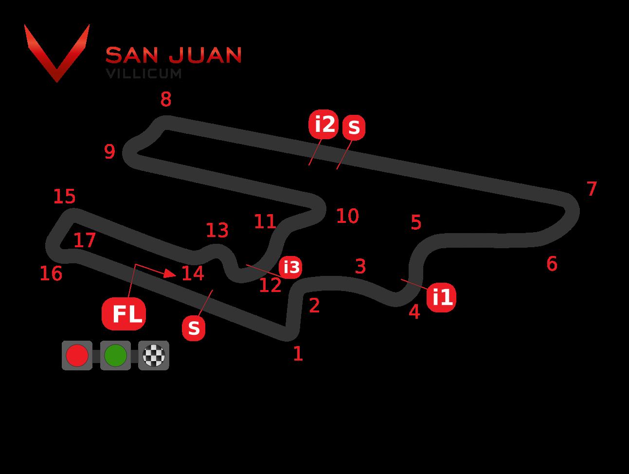 Схема трассы Вилликум