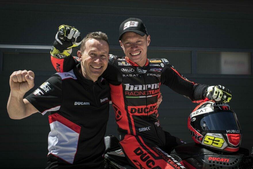 Тито Рабат и босс Barni Racing