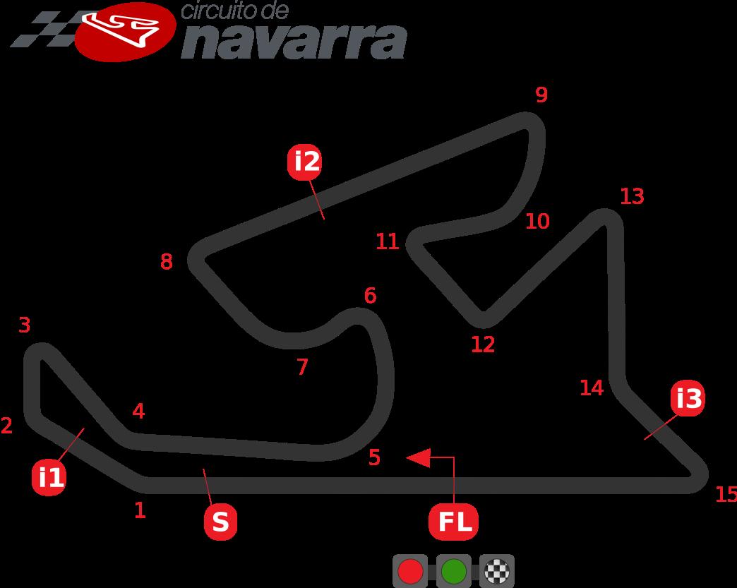 Схема трассы Наварра