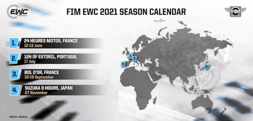 календарь FIM EWC 2021