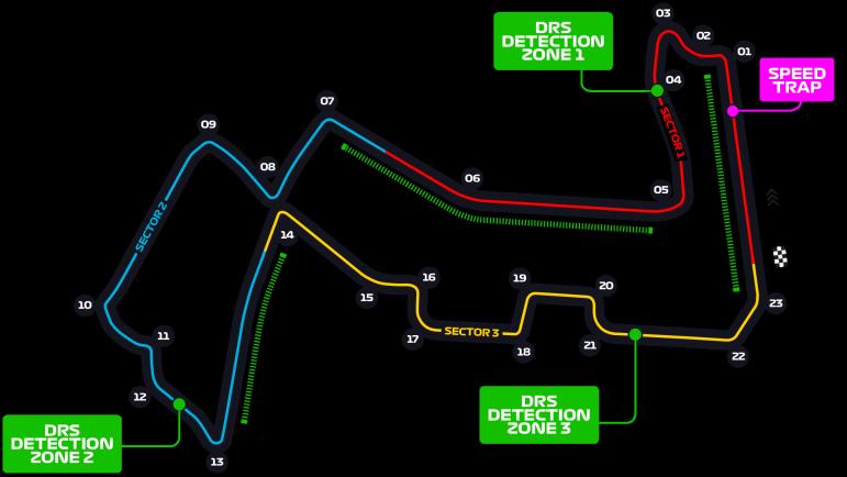 Схема трассы Марина-Бэй
