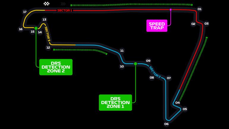 Схема трассы Мехико