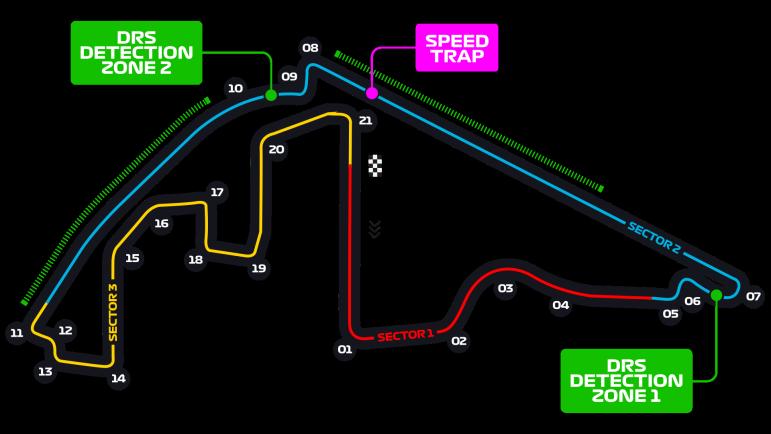 Схема трассы Яс-Марина