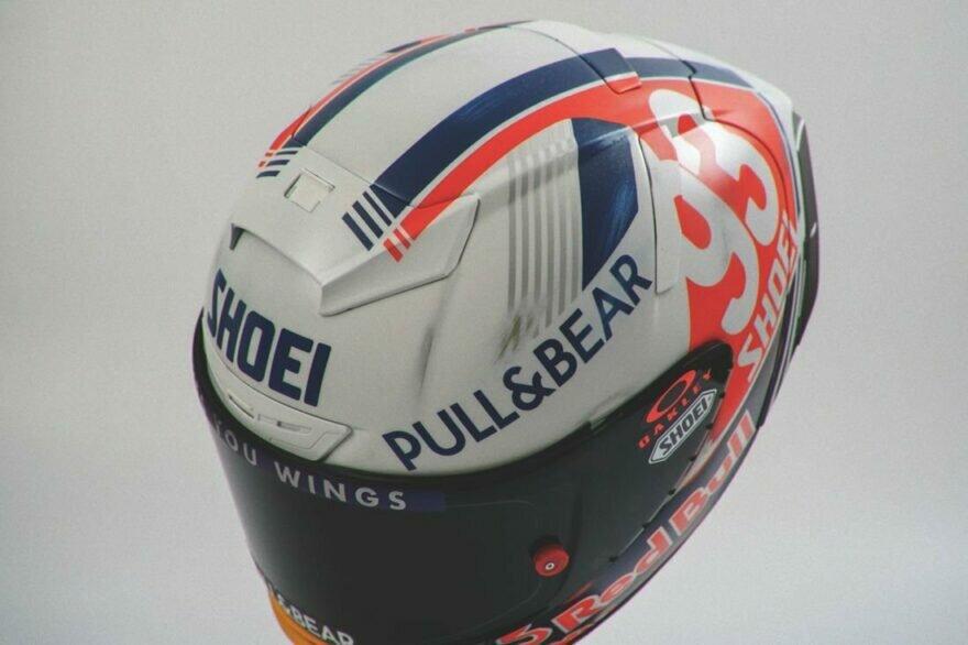 шлем Марка Маркеса в стиле ретро
