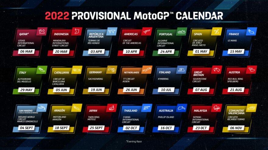 MotoGP 2022 календарь